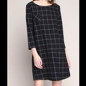 Harris Wilson Plaid Printed Dress